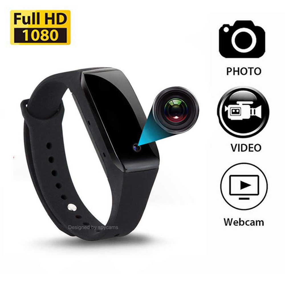 Mini cámara HD 1080p, pulsera portátil, pequeña cámara deportiva DV, recargable, micro videocámara oculta