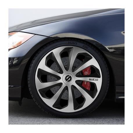 SPC1573SVBK-Set of hubcap Sparco Sicily 15