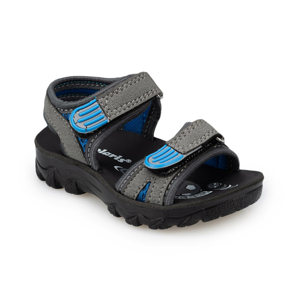 FLO 91.510358.B Gray Male Child Without Spikes Sandals Polaris