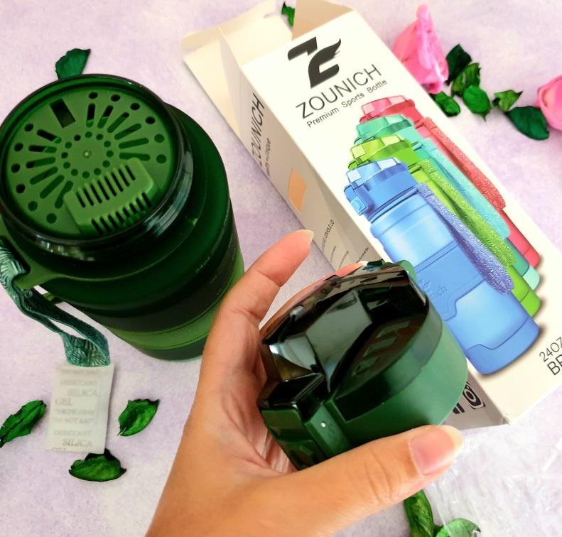 Water Bottle 1000 ML sports Protein Shaker Outdoor Travel Portable Leakproof Tritan plastic Large Capacity Drink Bottle BPA Free-in Water Bottles from Home & Garden on AliExpress