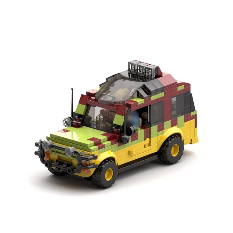 Конструктор Buildmoc, джип-исследователь Юрского периода, строительные блоки, автомобили, парк леса, конструкторы, развивающая игрушка, набор м...