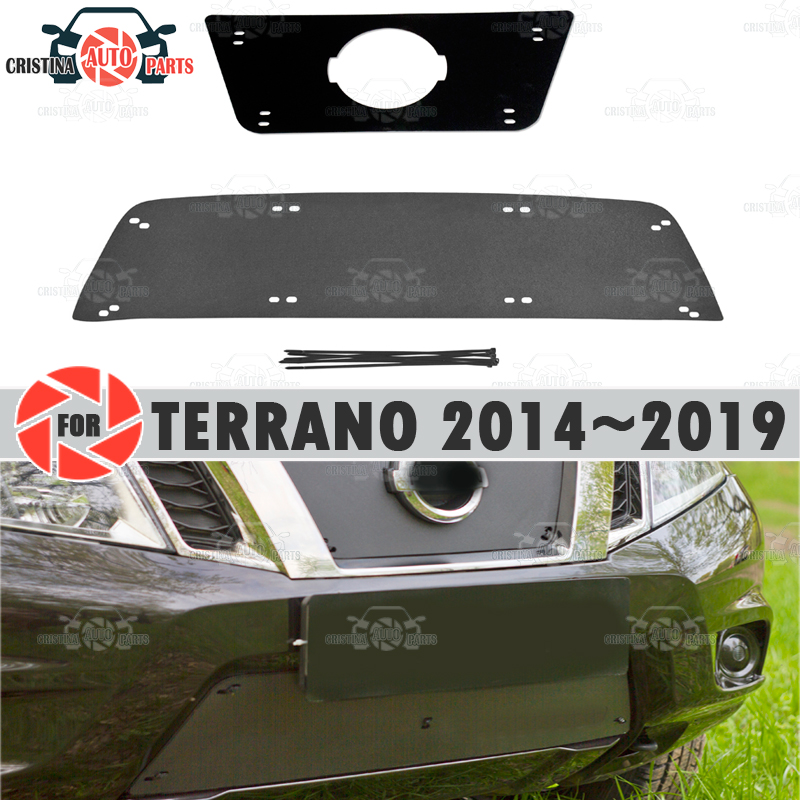 冬ラジエーター日産テラノ 2014 〜 2019 プラスチック ABS エンボス加工カバーフロントバンパー車スタイリングアクセサリー装飾