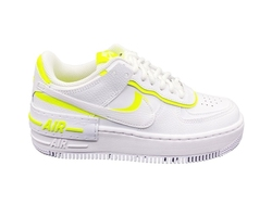 NIKE AF1 SHADOW SNEAKERS BIANCO GIALLO FLUO CI0919 ...