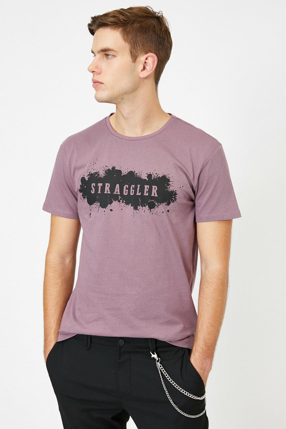 Koton Male Purple T shirt 0 YAM14501OK|T-Shirts|   - AliExpress