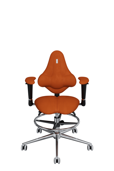 Chair Office KULIK SYSTEM KIDS Orange For Children And Teenagers Computer Эргономичное 5 Zones Control Spine