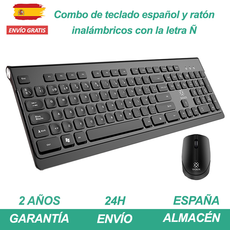 Wireless Keyboard + Mouse Combo 2.4 Black Or White