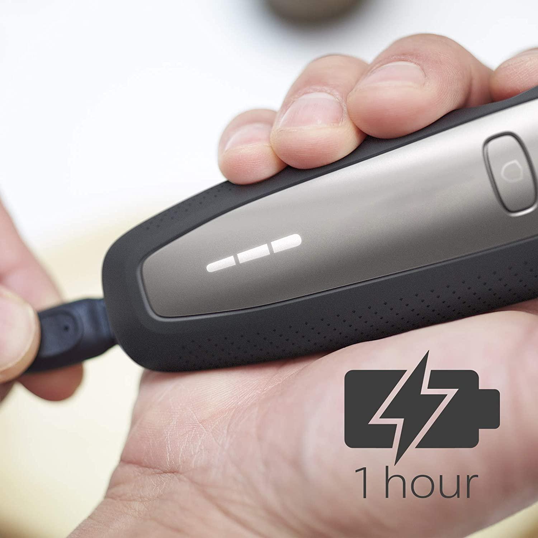 Philips S6640 / 44 Влажная и сухая бритье серии электробритва 6000 с многоточной системой бритья, SmartClick стайлер для бороды 6