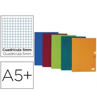NOTEPAD LEADERPAPER SCRIPTUS A5 PLUS 48 SHEETS 90G/M2 TABLE 5MM MARGIN ASSORTED COLORS 5 PCs