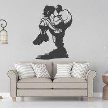 Newly Designed Macho Baseball Cartoon Wall Sticker Sports Decal House Room Decor A0081