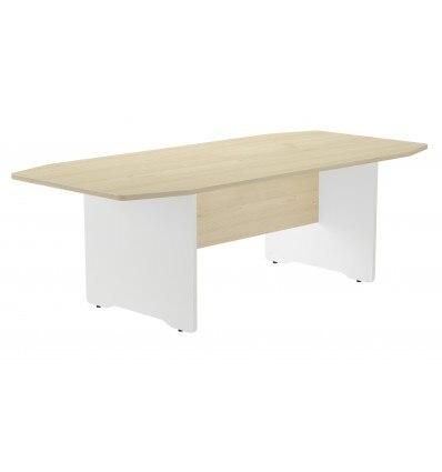 MEETING TABLE 220x100x72CM COLOR: WHITE LEG/DASHBOARD HAS