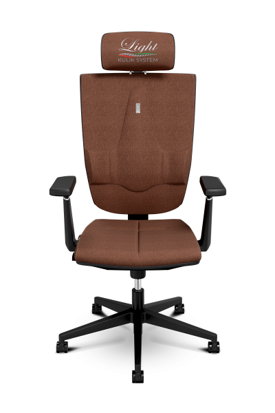 Office Chair KULIK SYSTEM SPACE Chocolate Computer Chair Relief And Comfort For The Back 5 Zones Control Spine
