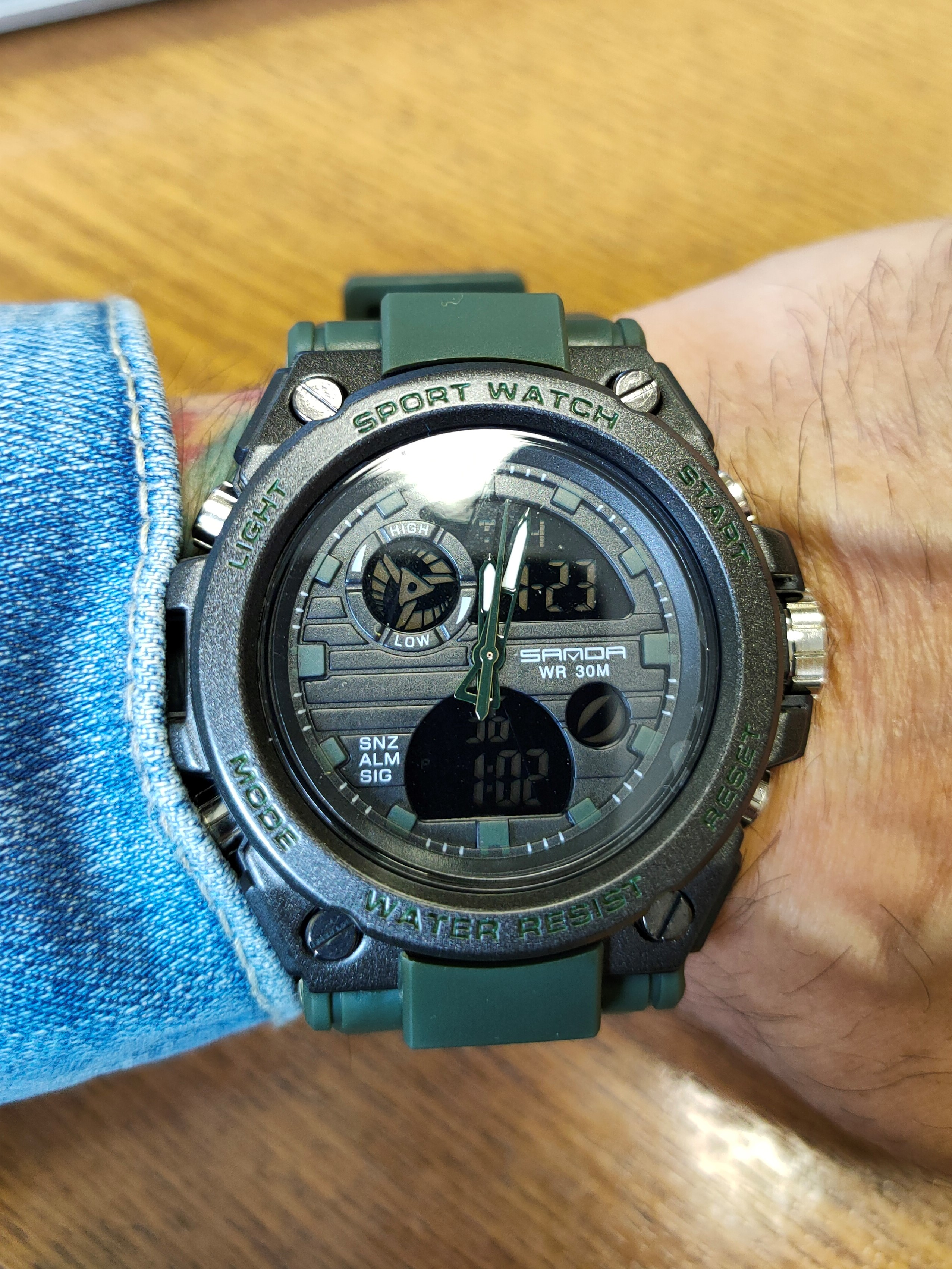 Relógio Masculino Militar Esporte Shock P739 photo review
