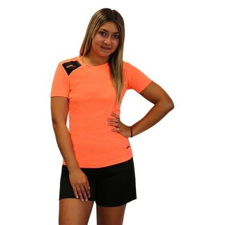 CAMISETA SOFTEE FULL MUJER - TALLA XL - COLOR CORAL FLUOR