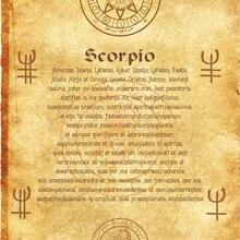 Древний свиток Ангел Зодиак Скорпион wicca pagan Печать Искусство ведьма magick руны
