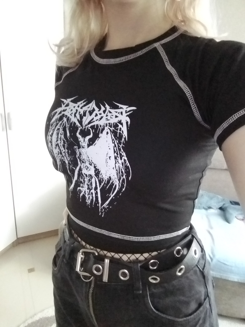 Crop Top with Demon print photo review