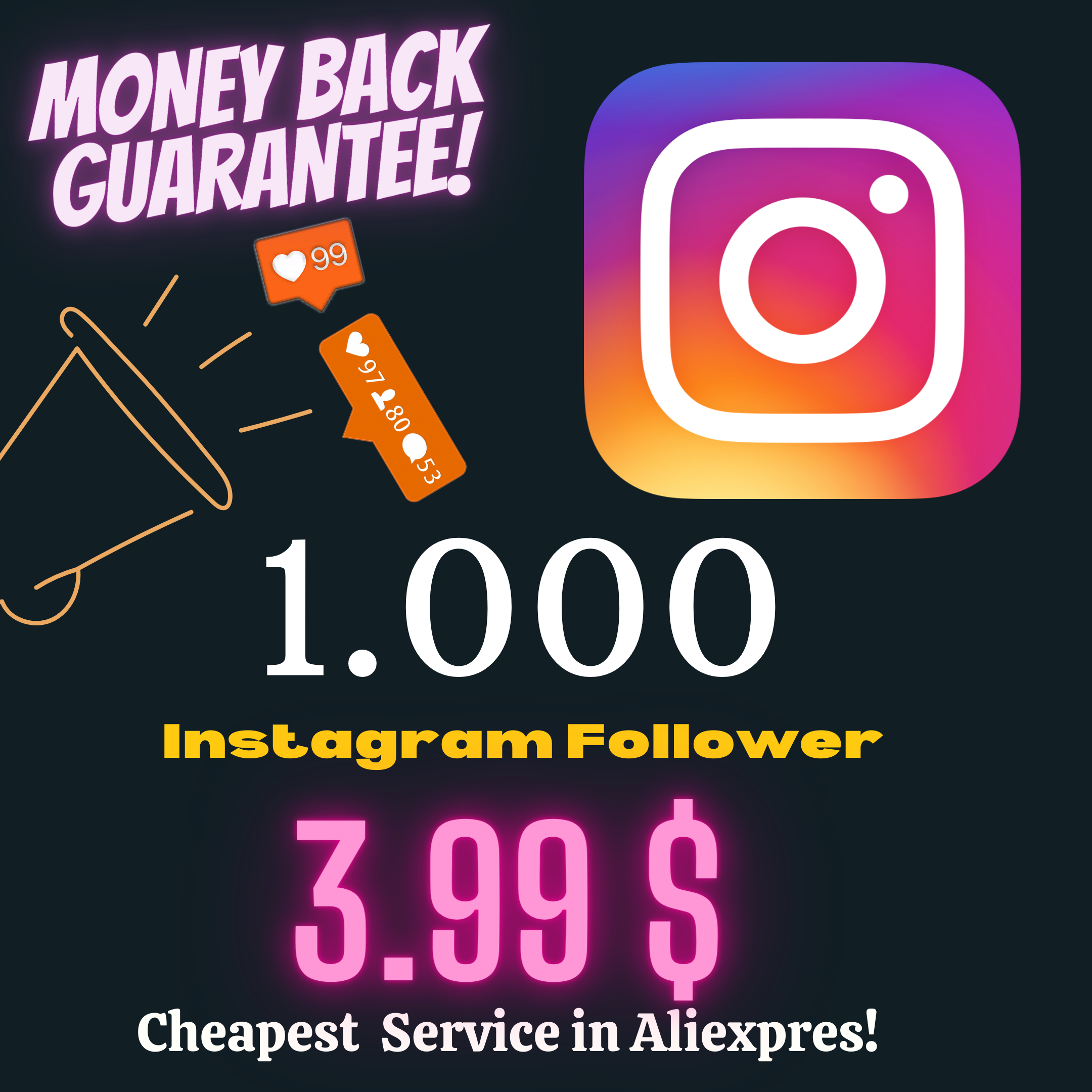 Followers Instagrames Viewsmoney Delivery-Sticker Likes Get Back-Guaranteefast