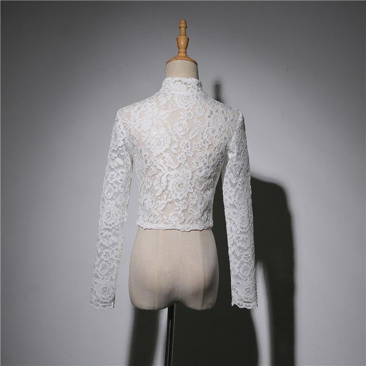 Купить с кэшбэком Merryu Bride Wedding Shawl  Lace  Long Sleeve Wedding Dress Wedding Jacket Wedding Accessories