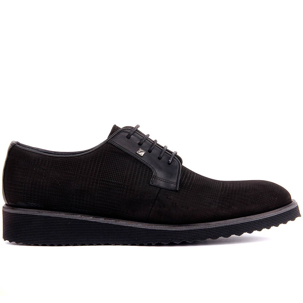 Fosco-Black Nubuck Men Casual Shoes