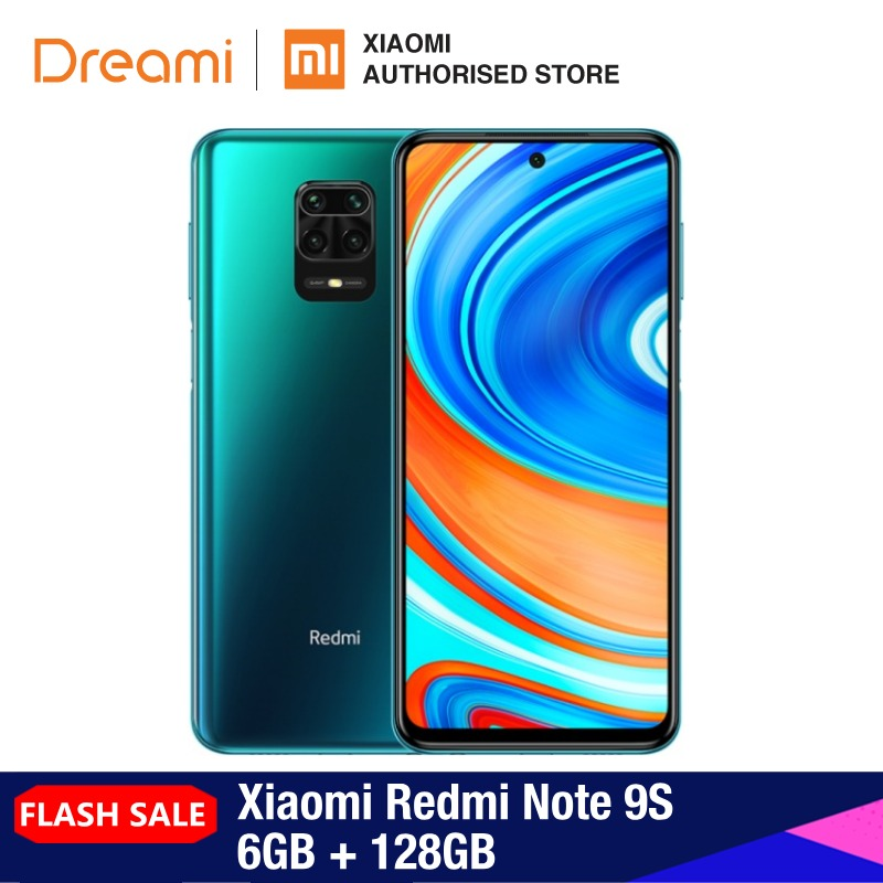 Global Version Xiaomi Redmi Note 9S 6GB RAM 128GB ROM (Brand New/Sealed) Redminote9s, Redmi, Note, 9s Smartphone Mobile