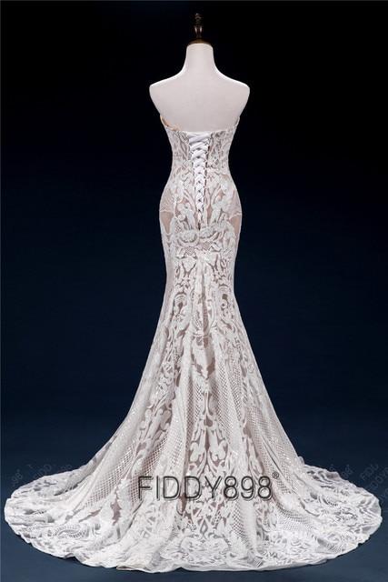 Sweeheart Mermaid Wedding Dresses Special Sequin Lace Bridal Gowns Sexy Trumpet Wedding Gown Vestido de Novia 2