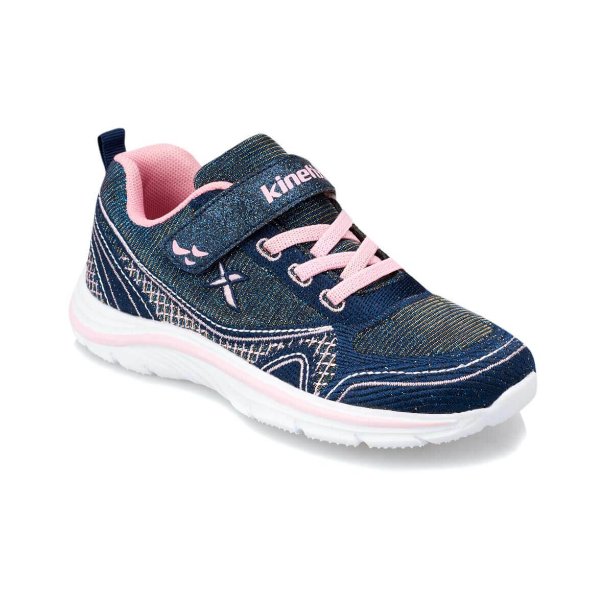 FLO LARRY Navy Blue Female Child Walking Shoes KINETIX