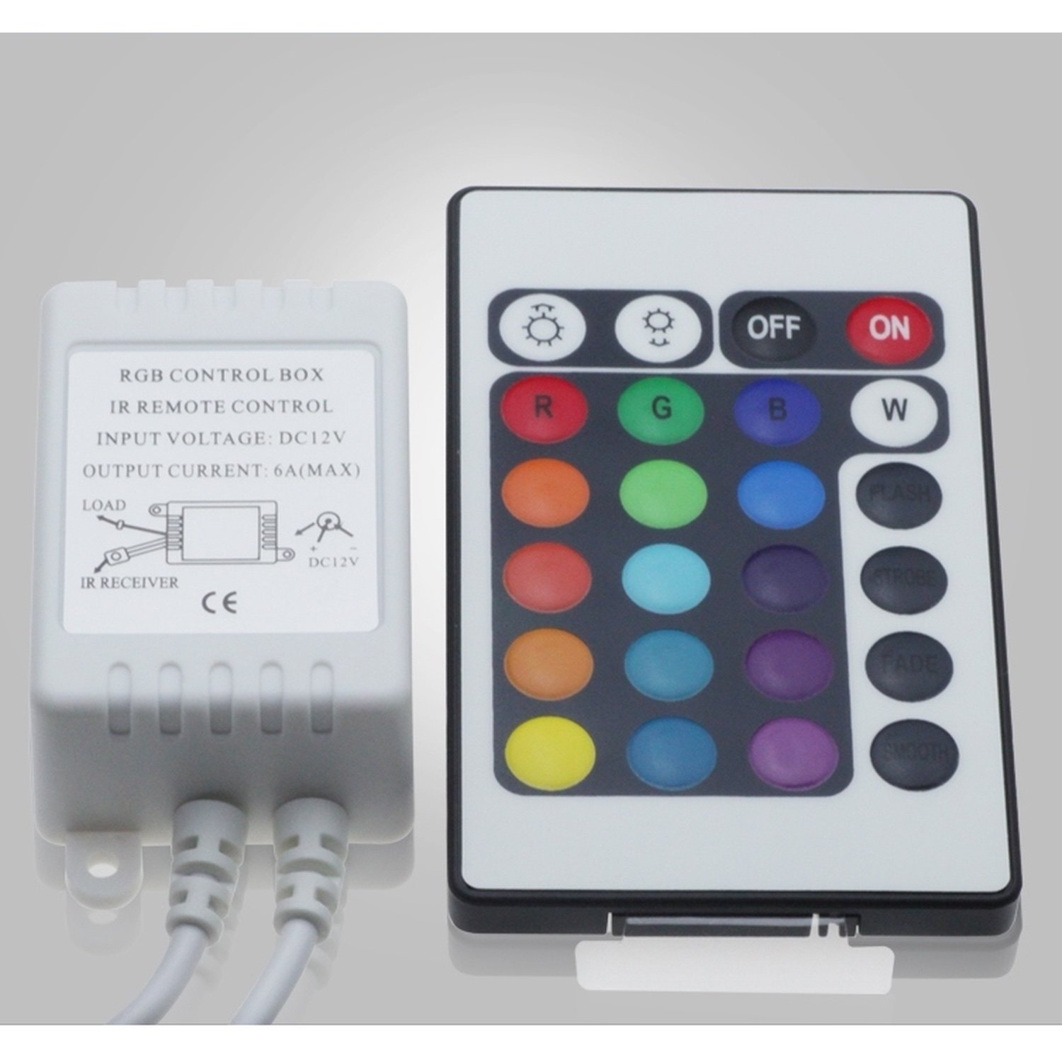 LED Strip Controller RGB Dimmer Remote Controlled GO 24 Buttons