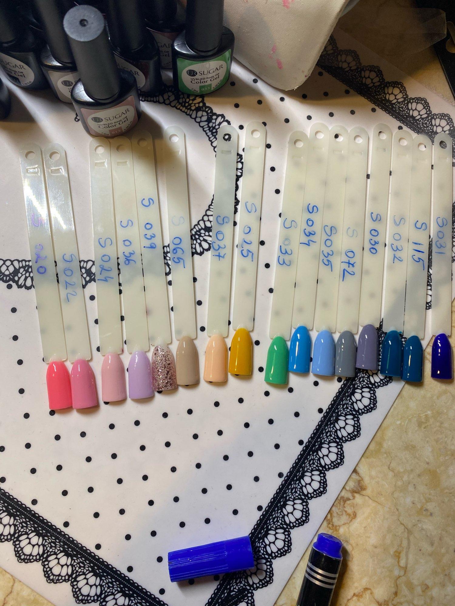 60Pcs/set Gel Nail Polish Set Color Gel UV Led Varnish Nail Art Design photo review