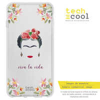 FunnyTech®Silicone stand case for IPhone 7/8 Frida Clear Characters designs selection art illustration 1
