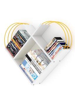 Meble do domu regał ścienny regał dekoracyjny regał na książki półki biblioteczne beyaz-yellow tanie i dobre opinie TR (pochodzenie) Turkey 89x74x18 CM Nowoczesne Drewna meble do salonu Drewniane