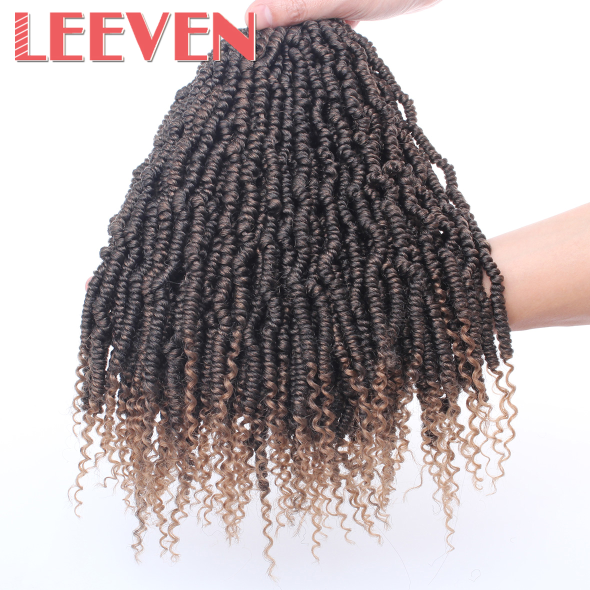 Leeven Pre Twisted Passion Twist Crochet Hair 14'' 18'' Synthetic Crochet Braids Hair Pre Looped Fluffy Twists Braiding Hair