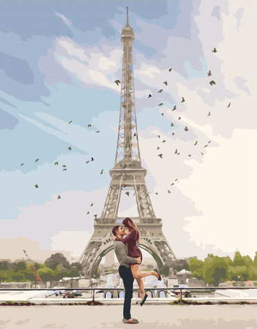 Painting By Numbers PK 51053 Romance Of Paris 40*50