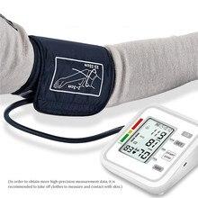 Ev kan basıncı monitörü manşet taşınabilir dijital tansiyon aleti otomatik üst kol BP kalp yendi hızı Tensiometro tonometre tansiyon aleti