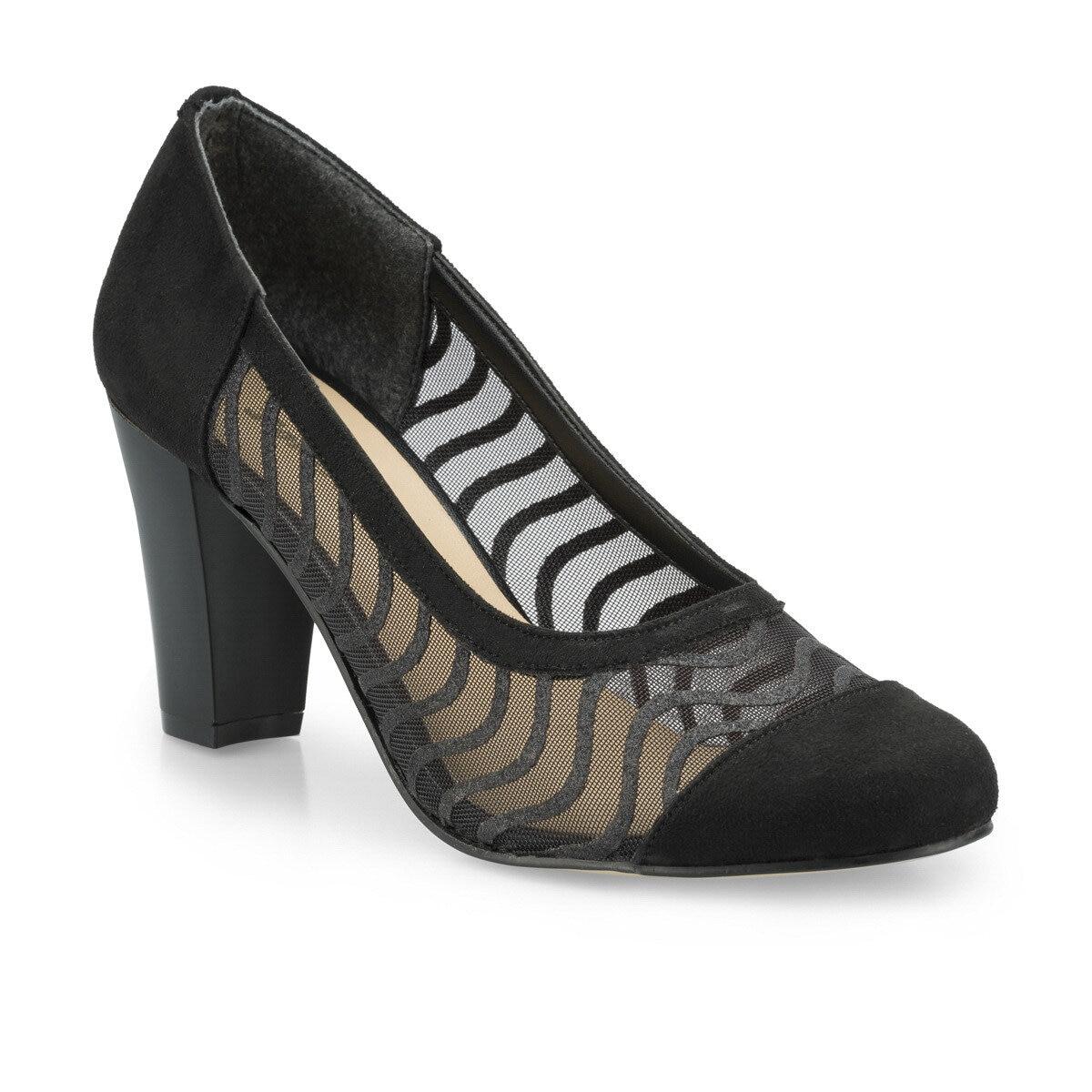 FLO Women Heeled Shoes Fashion Business Comfortable Breathable Low Heel Black Women Gova Shoes Женская обувь 315114.Z Polaris