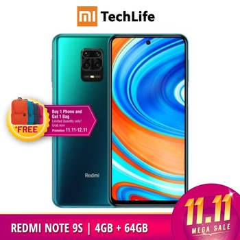 Global Version Xiaomi Redmi Note 9S 4GB RAM 64GB ROM (Brand New / Sealed) redminote9s, redmi, note, 9s Smartphone Mobile