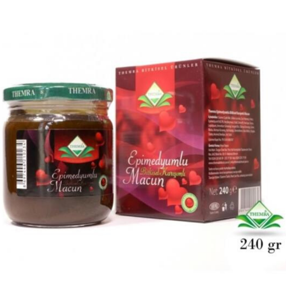 Natural Turkey Epimedium Paste Herbal Paste Red Ginseng Paste Horny Goat Weed Aphrodisiac Supplement Herbal Medicine Health Better Sexual Performance Ottoman Paste Made In Turkey Libido Support Boosts Energy Promites