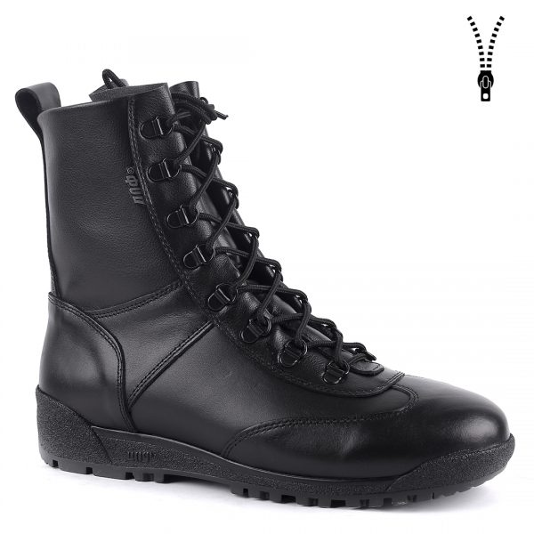 Demiseason High Quality Tourist Shoes Soft Leather + Zipper Flat Ankle Boots Made In Russia 0055\1 WA