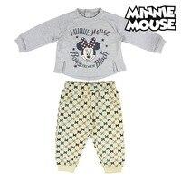 Kinder Trainingsanzug Minnie Maus 74712 Grau auf