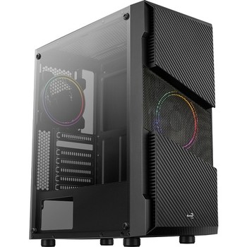 Aerocool Menace Saturn 500W 2x12cm FRGB Fan Mid Tower Computer case (AE-MNS-500) 1