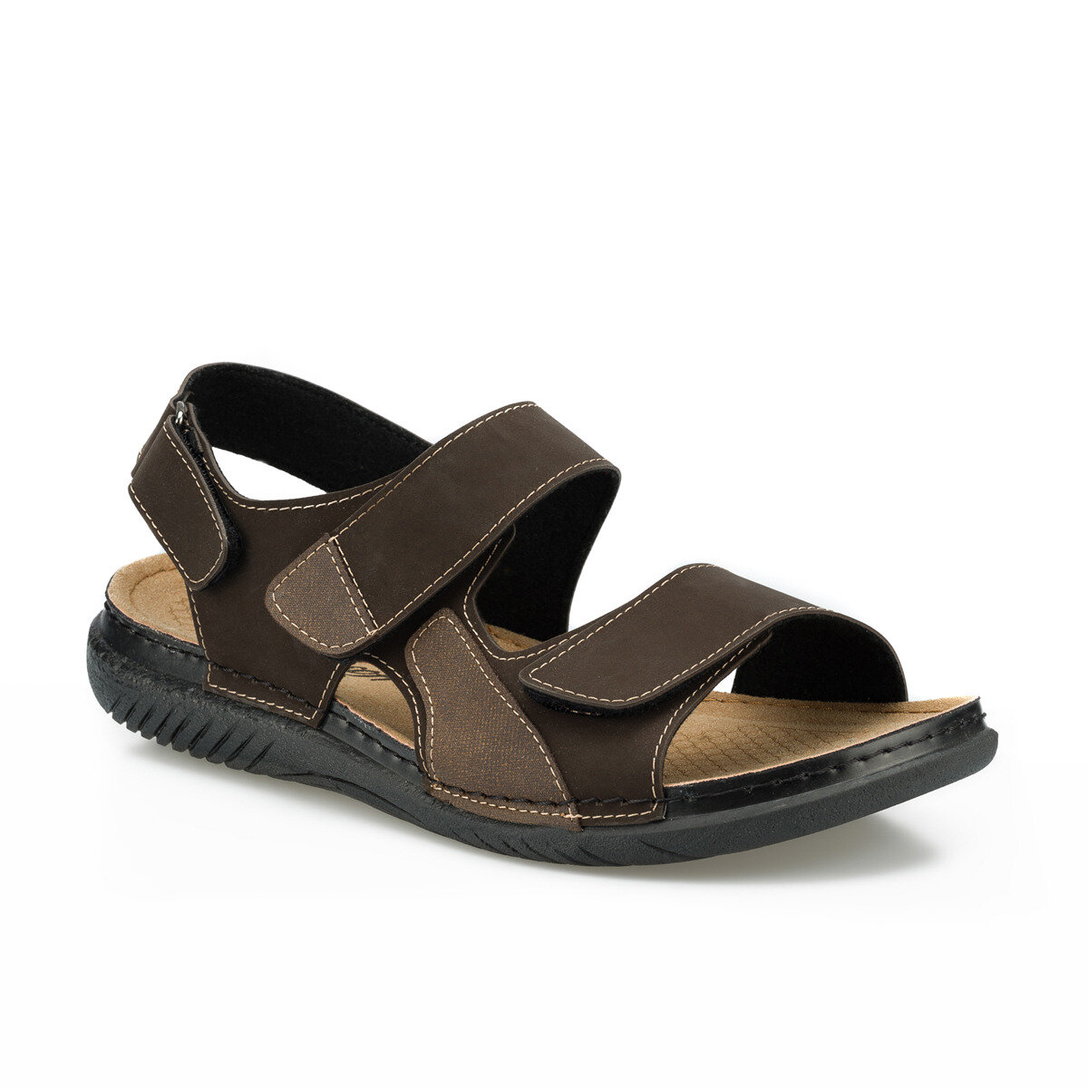 FLO 160254.M Brown Male Sandals Polaris