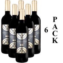 PACK de 6 bouteilles VIRIATUS de vin rouge, vin de raisin 2018, de l'espagne, Bodegas Viriatus, tempranilo 100%