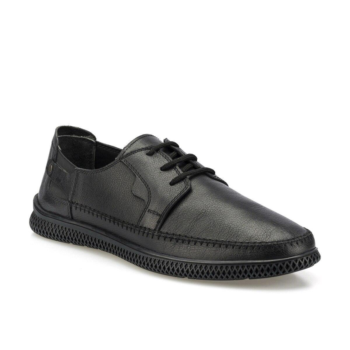 FLO 102071.M zapatos cómodos negros Polaris 5 puntos