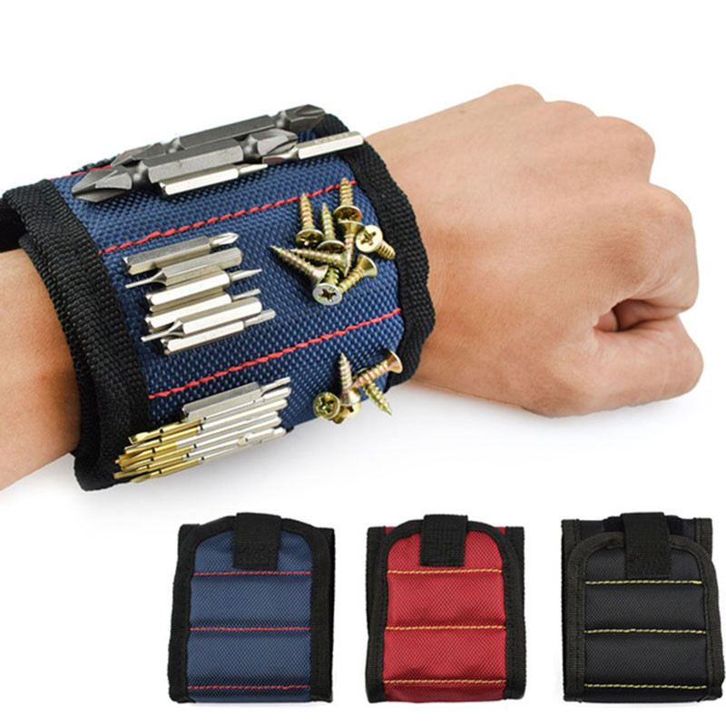 Ultra-strong Magnetic Wristband Pick Up Repair Storage Electrican Tools 1680D Ballistic Polyester For Workpro Magnetics Bracelet