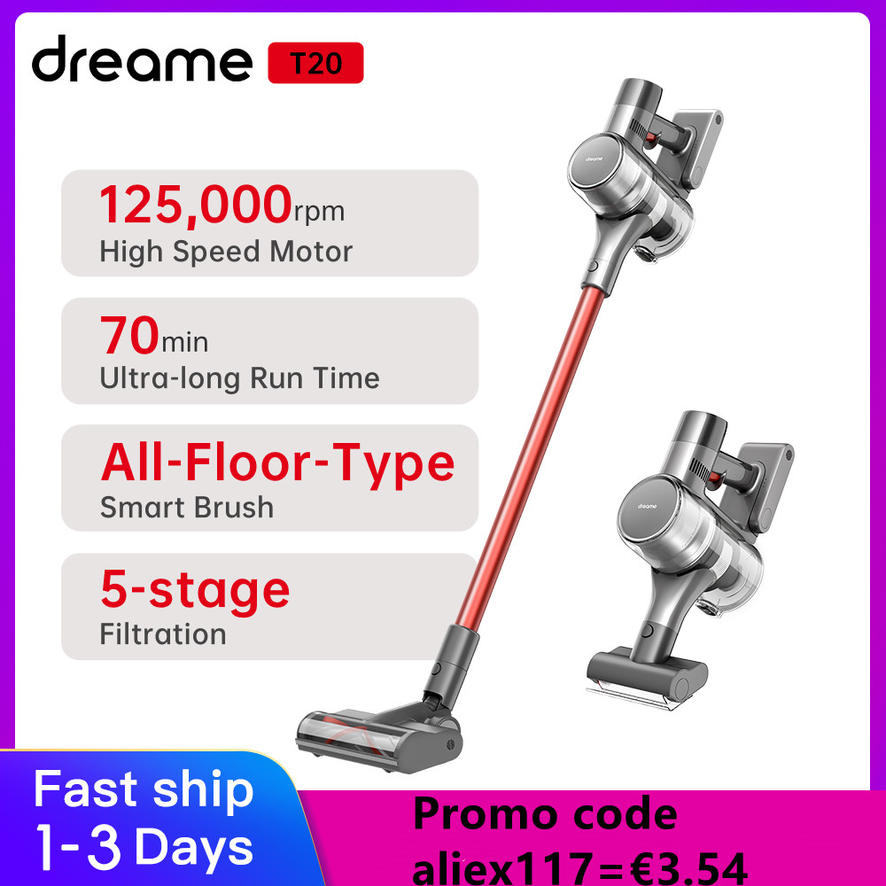 Dreame T20 Handheld Cordless Vacuum Cleaner Intelligent All-surface Brush Home Appliances Floor Carpet Aspirator 25kPa