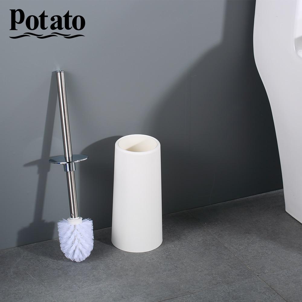 Potato Stainless Steel Portable Toilet Brush Durable Type Plastic Toilet Brush Holders Bathroom Accessories Sets p221