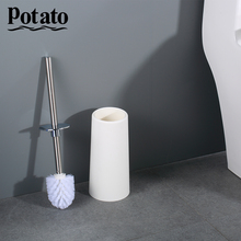 Potato Stainless Steel Portable Toilet Brush Durable Type Plastic Toilet Brush Holders Bathroom Accessories Sets p221