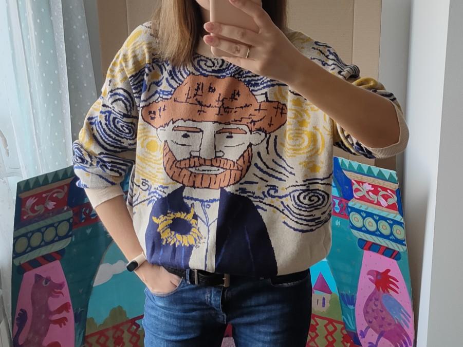 Egirl Eboy Harajuku Vintage Cartoon print Sweater photo review