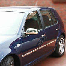 Chrome rear view enclosures for Seat Arosa (6H) - 1997-2004 stainless steel