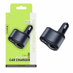 Lighter charger 2 in 1 black N3473 ONE PLUS Smartphone chargers & Cables