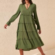 Trendyol Ruffle Detail Viscose Dress TBESS19WR0068