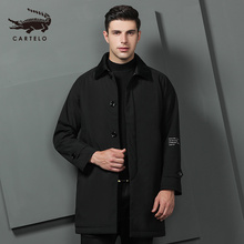 Mens Autumn Winter Cotton Jacket Trench Warm Selected Clothing for Men 9561 Cartelo Brand New 2019